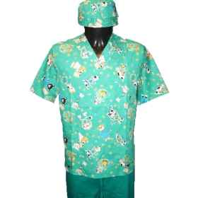 Full uniform health pediatrics veterinary clownterapia nurse the child