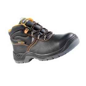 Shoes amphibious work safety toe cap steel leather non-slip man