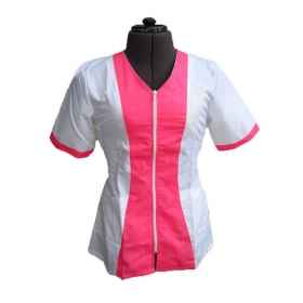 Coat jacket women supermarket beautician cleaning work zip short