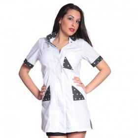 Shirts, beautician and hair salon, massage center, white clothing wellness short