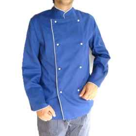 Jacket jacket chef cooking blue cotton restaurant cook clothes work catering