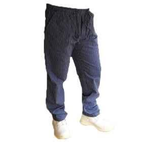 Pants pantalaccio cotton kitchen work, blue lines, lace worker