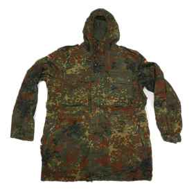 Parka jacket German cotton flecktarn soft air sporting man germany, military