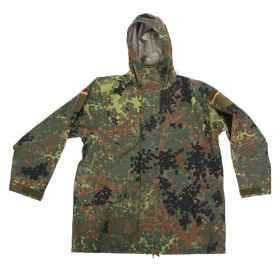 Parka jacket German waterproof gore-tex flecktarn airsoft military