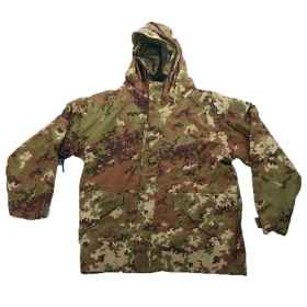 Parka vegetated green waterproof jacket, fleece cold soft air cushioned hunting