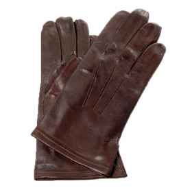 Gloves in pure leather official of the Italian army, brown or black glove compartment
