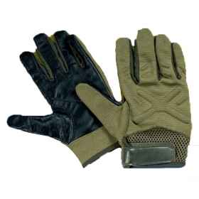 Gloves sculptor nylon lycra and leather, padded with foam, breathable