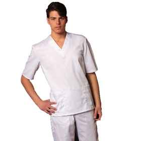 Full uniform, nurses white hospital department cotton half sleeves