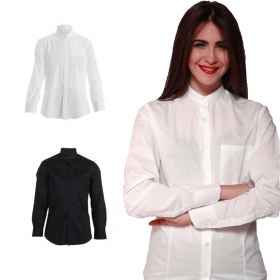 woman shirt waitress restaurant ballroom the Korean pizzeria work cotton