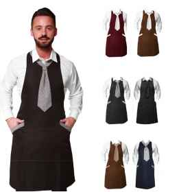Apron tie waiter restaurant uniform bar room sommelier man pub