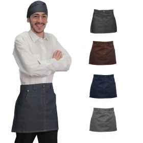Apron jabot jeans short barman pizzeria restaurant kitchens work man