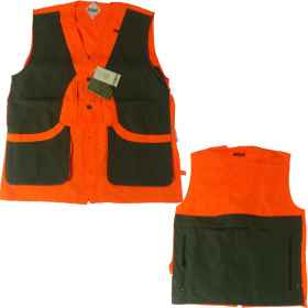 Sleeveless vest high visibility orange hunting wild boar yet padded