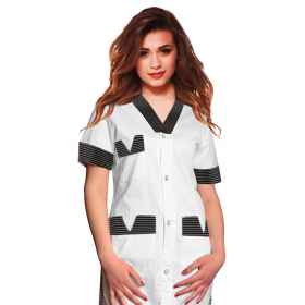 Shirts blouse woman work uniform hairdresser beautician spa