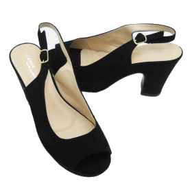 Open shoes for women black str