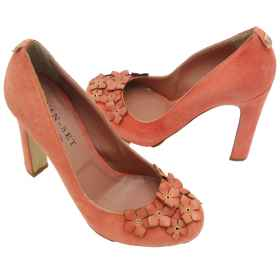 Heel shoes salmon twinset deco