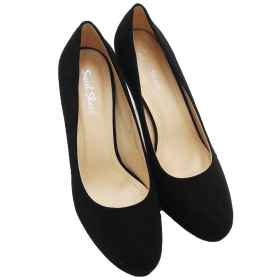 Shoes high heels black scamosc