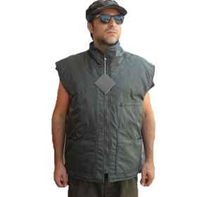 Vest sleeveless vest sports man pockets nylon internal batteries hunting fishing