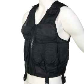 Tactical vest bearing m16 airsoft airsoft tactical adjustable pockets bullets