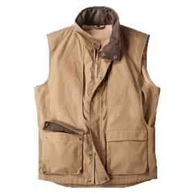 Sleeveless vest vest oiled cotton canvas hunting fishing waterproof man
