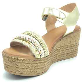 Shoes clogs wedge canvas summe