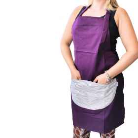 Apron paravanti room kitchen pizza work pocket woman pub plum