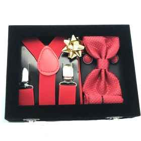 Packaging box gift set men cufflinks suspenders bow tie handkerchief kit