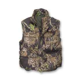 Sleeveless vest waistcoat padded the woods hunting camouflage pockets pvc nylon