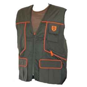Sleeveless vest hunting green zipper cacciatora man clothing