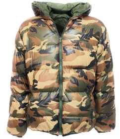 Down jacket down jacket quilted padded camo camouflage vegetated double face