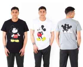 Set charge kit, drei-t-shirt-t-shirts disney-halbarm-mickey-mouse-drei farben