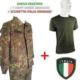 the kit is Divided planted façade and.the. with shield with velcro and a green t-shirt