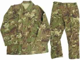 Camouflage uniform airsoft vegetated ripstop Miltec complete