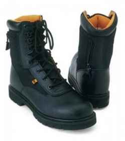 High shoes f w5 shoe with fabric upper, and leather military soft air